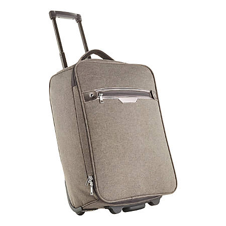 "Rolling Carry-On Luggage, 19""H x 13 1/2""W x 8""D, Gray"