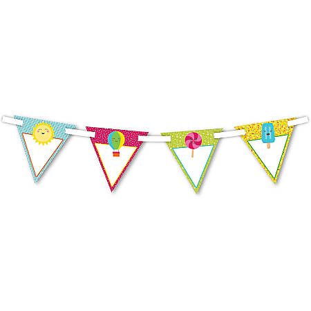 Carson-Dellosa Bunting, 7'' x 7'', School Pop, Grades Pre-K - 8, Pack Of 16