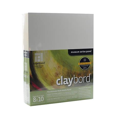 "Ampersand Cradled Claybord, 8"" x 10"", 2"""