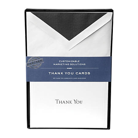 Gartner studios thank you cards 5 14 x 3 34 white with black accents gartner studios thank you cards 5 m4hsunfo
