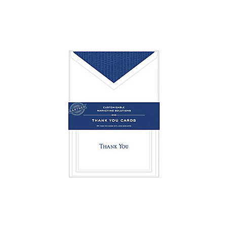 Gartner studios thank you cards 5 14 x 3 34 white with blue accents gartner studios thank you cards 5 fbccfo Choice Image