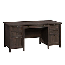 Sauder Costa Executive Desk Coffee Oak