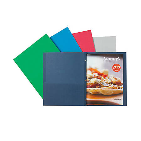 OfficeMax® Brand 2-Pocket Folders with Fasteners, Dark Blue, Pack Of 25