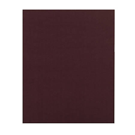 Office Depot® Brand 2-Pocket Folders Without Fasteners, Burgundy, Pack Of 25