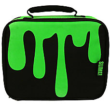 Nickelodeon Slime Insulated Lunch Bag BlackGreen