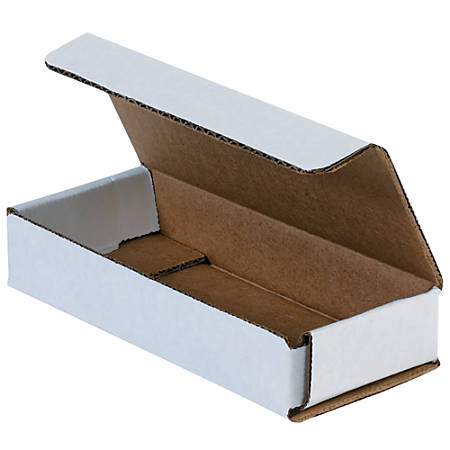 """Office Depot® Brand 8"""" Corrugated Mailers, 1""""H x 6""""W x 9""""D, White, Pack Of 50"""