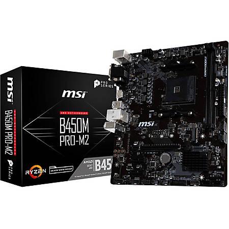 MSI B450M PRO M2 Desktop Motherboard - AMD B450 Chipset - Socket AM4