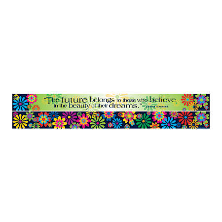 """Barker Creek Double-Sided Straight-Edge Border Strips, 3"""" x 35"""", Italy Fiori, Pack Of 12"""