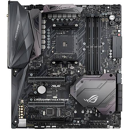 Asus ROG CROSSHAIR VI EXTREME Desktop Motherboard - AMD Chipset - Socket AM4 - 64 GB DDR4 SDRAM Maximum RAM - DIMM, UDIMM - 4 x Memory Slots - Gigabit Ethernet - Wireless LAN - 8 x USB 3.1 Port - 8 x SATA Interfaces