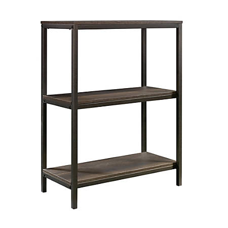 Sauder® North Avenue Tall Bookcase, 3 Shelves, Smoked Oak