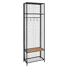 Linon Griffin Grid Locker Coat Rack