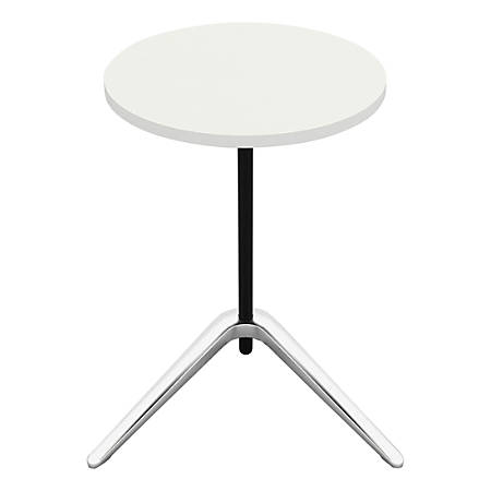 Lorell® Guest Area Round Top Accent Table, White