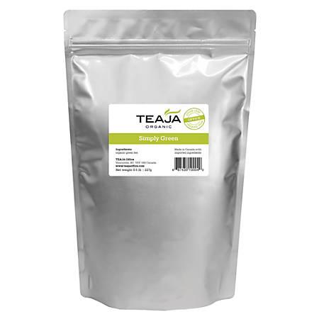 Teaja Organic Loose-Leaf Tea, Simply Green, 8 Oz Bag