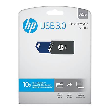 HP x900w USB 3.0 Flash Drive, 32GB, Gray/Blue, P-FD32GHP900-GE