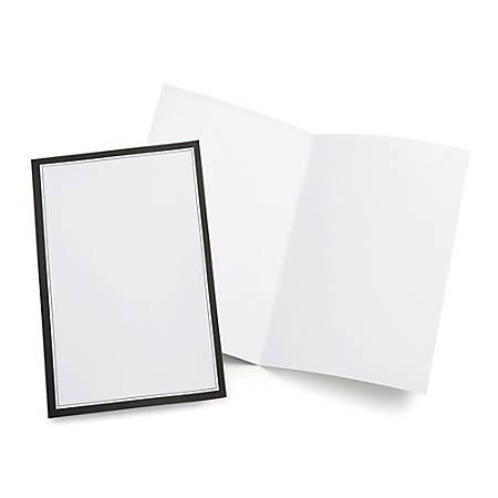 gartner studios wedding programs half fold 8 12 x 11 white with
