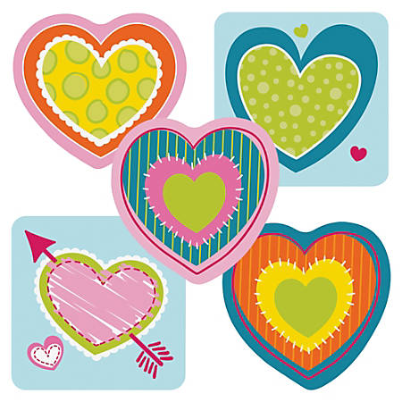 """Carson-Dellosa Hearts Mini Cut-outs - Learning, Encouragement, Fun, Valentine's Day Theme/Subject - 36 (Heart) Shape - 3"""" Width x 3"""" Length - Multicolor - 36 / Pack"""