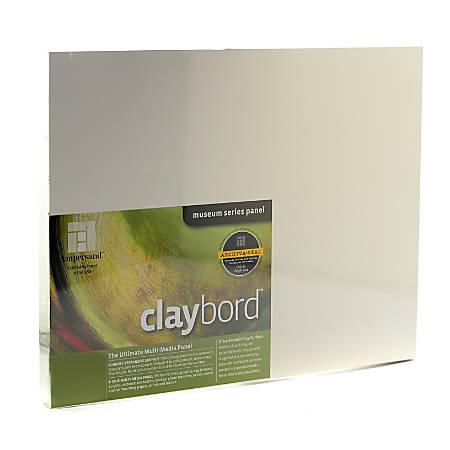 "Ampersand Cradled Claybord, 11"" x 14"", 3/4"""