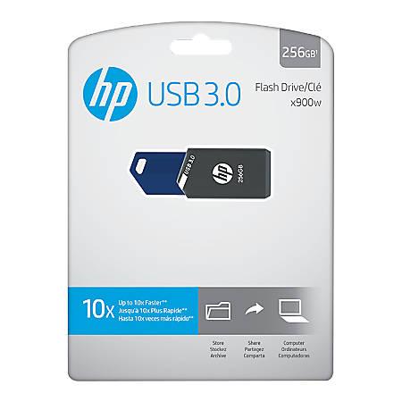 HP x900w USB 3.0 Flash Drive, 256GB, Gray/Blue, P-FD256HP900-GE