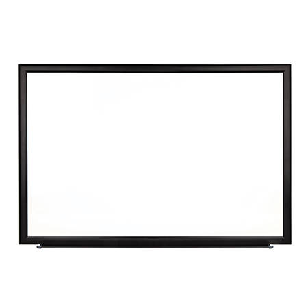 "FORAY™ Magnetic Dry-Erase Boards With Aluminum Frame, Melamine Board, 24"" x 36"", White Board, Black Frame"
