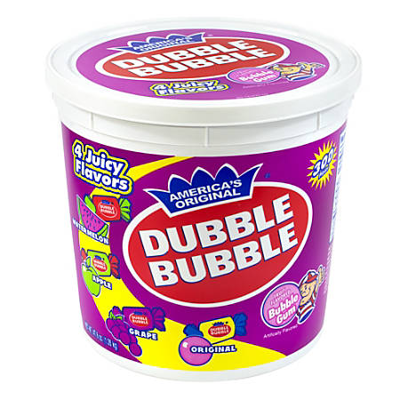 Dubble Bubble Assorted Twist Tub, 300 Pieces