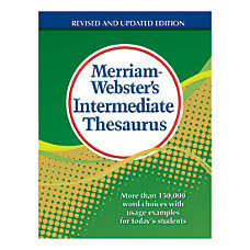Merriam Websters Intermediate Thesaurus