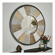 FirsTime Co Adler Rustic Round Mirror