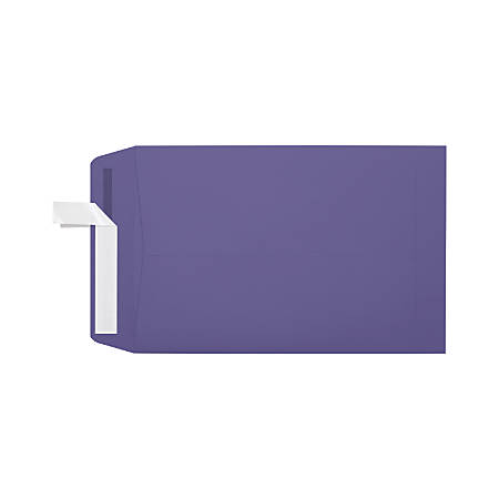 "LUX Open-End Envelopes With Moisture Closure, #6 1/2, 6"" x 9"", Wisteria, Pack Of 250"