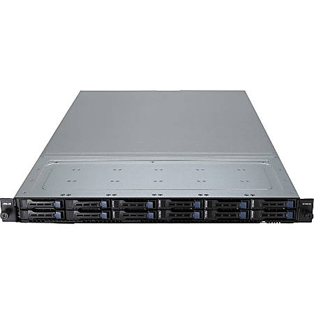 """Asus RS700A-E9-RS12 Barebone System - 1U Rack-mountable - 4 TB DDR4 SDRAM DDR4-2666/PC4-21300 Maximum RAM Support - Serial ATA/600 RAID Supported Controller - ASPEED AST2500 64 MB Integrated - 12 x Total Bays - 12 2.5"""" Bay(s) - 4 x Total Expansion Slots"""