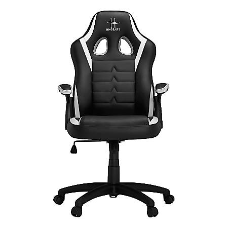 HHGears SM-115 Gaming Racing Chair, White/Black
