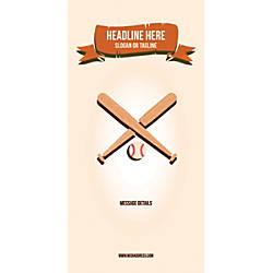 Custom Vertical Banner Baseball