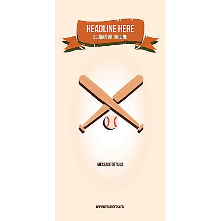 Custom Vertical Banner, Baseball
