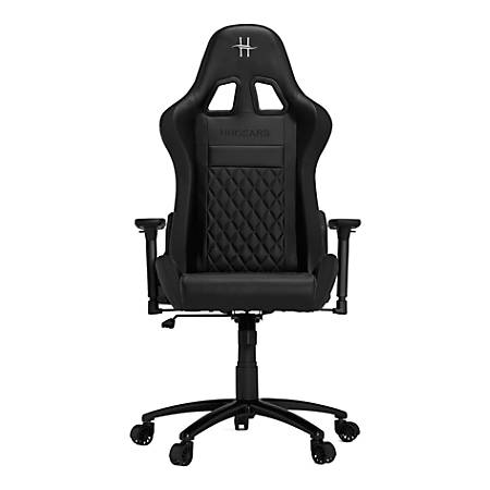 HHGears XL 500 PC Gaming Racing Chair With Headrest, Black