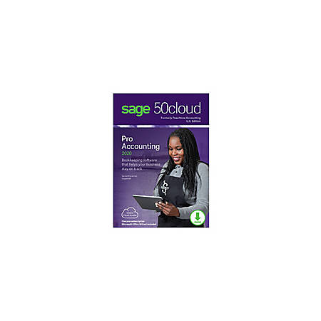 Sage 50cloud Pro Accounting 2020 U.S. One Year Subscription