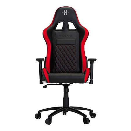 HHGears XL 500 PC Gaming Racing Chair With Headrest, Red/Black