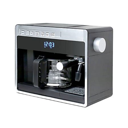 Espressione 3-In-1 Pump Espresso Machine And 10-Cup Programmable Drip Coffeemaker, Black