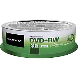 Sony DVDRW Rewritable Media Spindle 47GB120