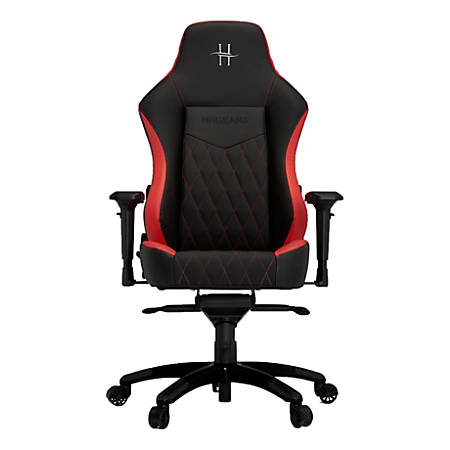HHGears XL 800 PC Gaming Racing Chair With Headrest, Red/Black