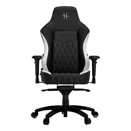 HHGears XL 800 PC Gaming Racing Chair With Headrest, White/Black
