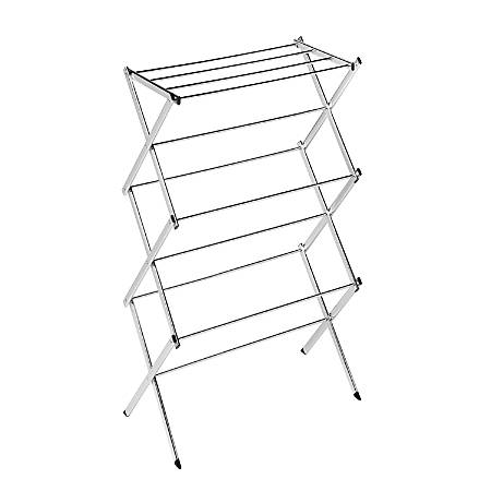 """Honey-Can-Do Slim Chrome Commercial Drying Rack, 41 1/2""""H x 15""""W x 22 1/2""""D, Silver"""