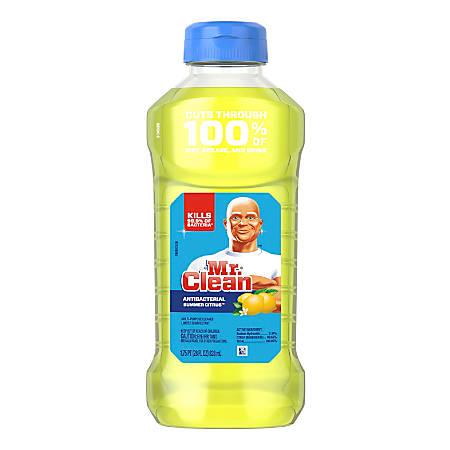 Mr. Clean® Antibacterial Liquid Multi-Surface Cleaner, Summer Citrus Scent, 45 Oz, Pack Of 6 Bottles