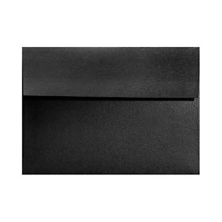 """LUX Invitation Envelopes With Moisture Closure, A7, 5 1/4"""" x 7 1/4"""", Black Satin, Pack Of 500"""