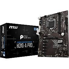 MSI H310 A PRO Desktop Motherboard