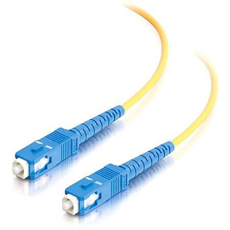 C2G-20m SC-SC 9/125 OS1 Simplex Singlemode PVC Fiber Optic Cable (LSZH) - Yellow