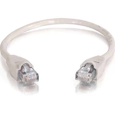 C2G 14ft Cat6 Snagless Unshielded (UTP) Network Patch Cable (USA-Made) - Gray - Category 6 for Network Device - RJ-45 Male - RJ-45 Male - USA-Made - 14ft - Gray