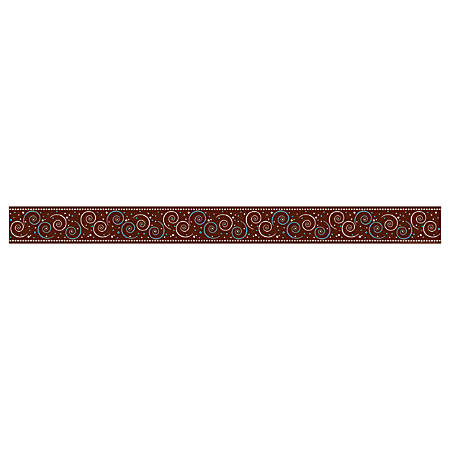 """Barker Creek Straight-Trim Border Sets, 3"""" x 35"""", Hot To Dot Swirl, Pre-K To College, Pack Of 36"""