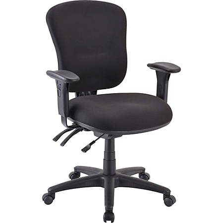 Lorell® Accord Series Mid-Back Fabric Task Chair, Black