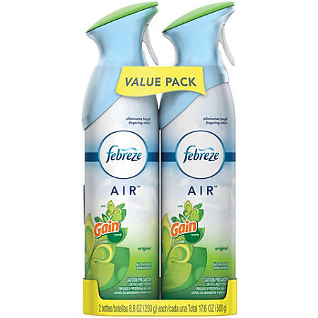 Febreze® Air Fresheners, Gain Original Scent, 8.8 Oz, Pack Of 2 Air Fresheners