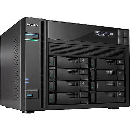 ASUSTOR SAN/NAS Storage System, Intel Celeron Quad-Core (4 Core), 4GB Memory, AS6208T