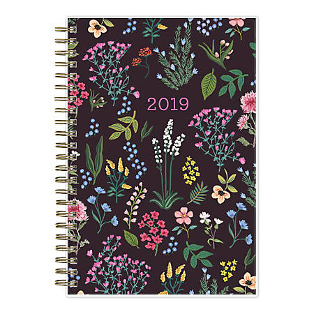 """Blue Sky™ Londonberry Weekly/Monthly Wirebound Planner, 5"""" x 8"""", Multicolor, January To December 2020, 118536"""