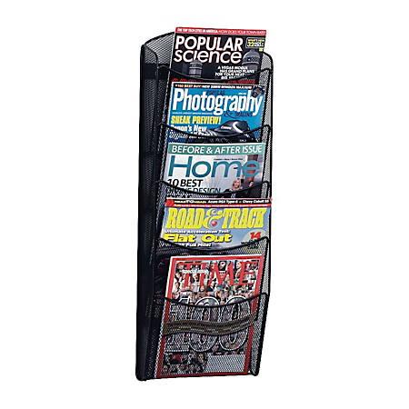 Safco 5 Pocket Mesh Magazine Rack